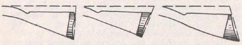 Различные формы затыльника, изменяющие угол между линией прицеливания и плоскостью затыльника